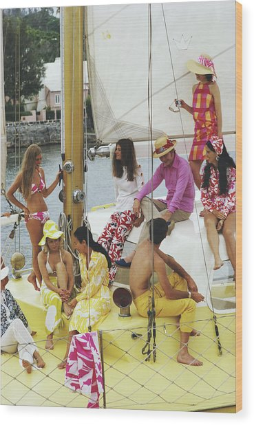 Colourful Crew Wood Print