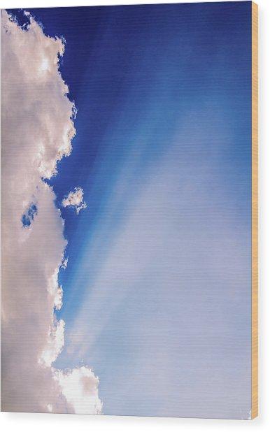 Colours.blue Wood Print