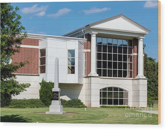 Columbia County Main Library - Evans Ga Wood Print