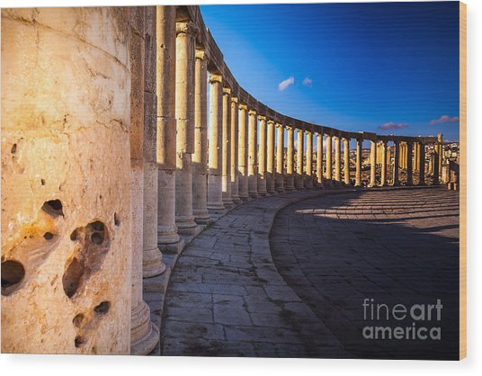 Columns  In Ancient Ruins In The Wood Print