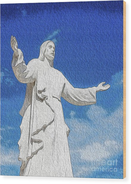 Wood Print featuring the digital art Come Unto Me by Kenneth Montgomery