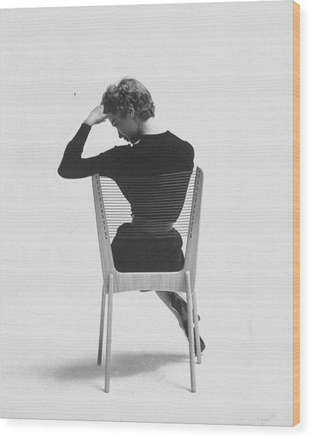 Comfort Of Chair Comes From Fact That Is Wood Print by Yale Joel