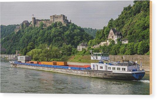 Commerce Along The Rhine Wood Print
