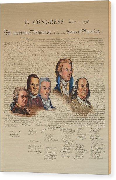 Committee Of Five Wood Print