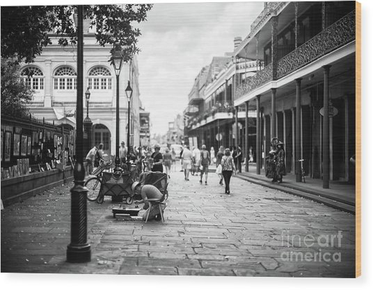 Concentration In New Orleans Wood Print by John Rizzuto