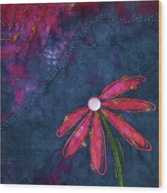 Coneflower Confection Wood Print