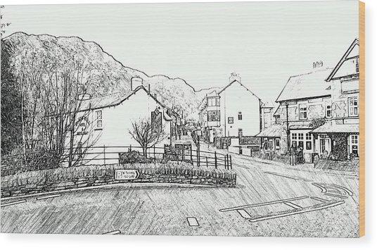 Coniston High Street Wood Print