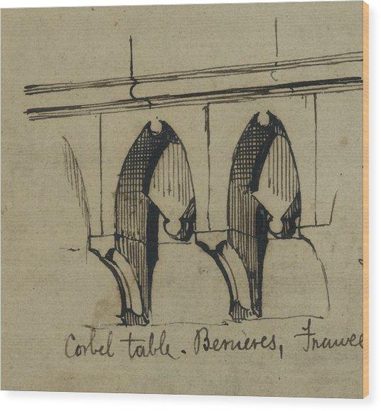 Corbel Table - Benieves, France Wood Print