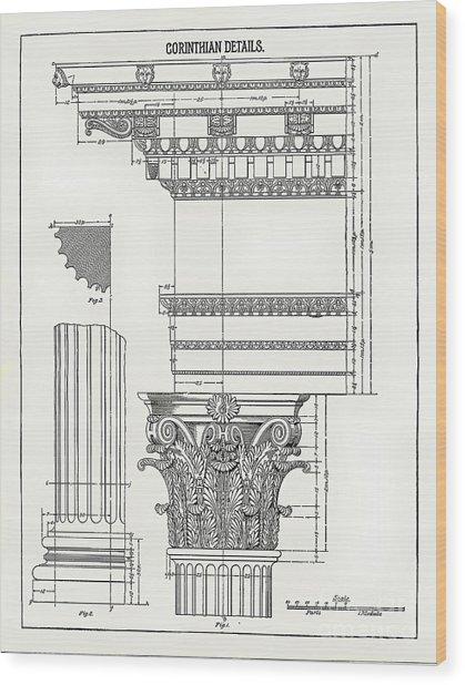 Corinthian Architecture Wood Print