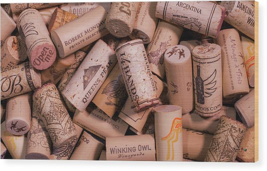 Wine Lovers Wood Print