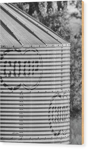 Corrugated Grain Bin Wood Print