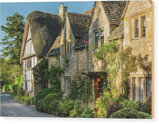 Cotswold Cottages, Stanton, Gloucestershire Wood Print by David Ross