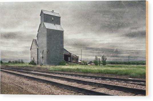 Cottonwood South Dakota Grain Elevator IIi Wood Print