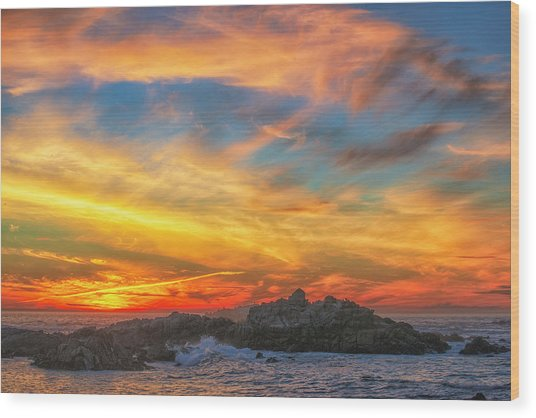 Couds At Sunset Wood Print by Fernando Margolles