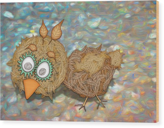 Count Your Chicken Wood Print