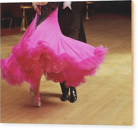 Couple Ballroom Dancing, Low Section Wood Print