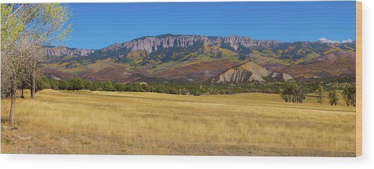 Courthouse Mountain To Baldy Peak - San Juan Large Panorama Pt1 Wood Print by James BO Insogna