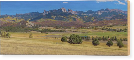 Wood Print featuring the photograph Courthouse Mountain To Baldy Peak - San Juan Large Panorama Pt2 by James BO Insogna
