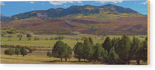 Wood Print featuring the photograph Courthouse Mountain To Baldy Peak - San Juan Large Panorama Pt3 by James BO Insogna