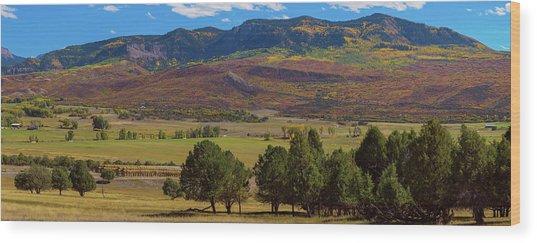 Courthouse Mountain To Baldy Peak - San Juan Large Panorama Pt3 Wood Print by James BO Insogna