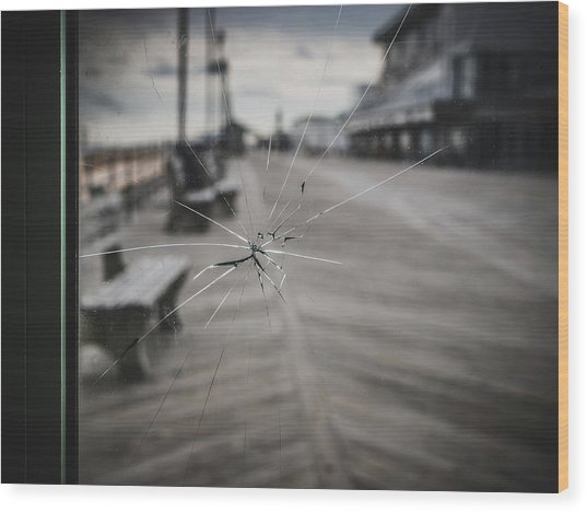 Wood Print featuring the photograph Crack by Steve Stanger