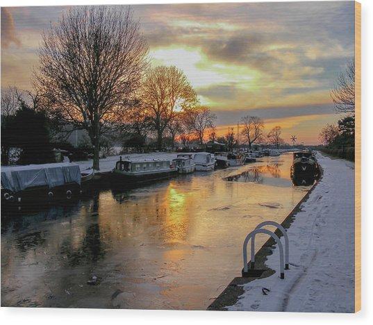 Cranfleet Canal Boats Wood Print