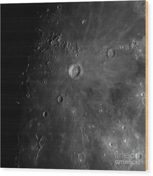 Crater Copernicus Wood Print