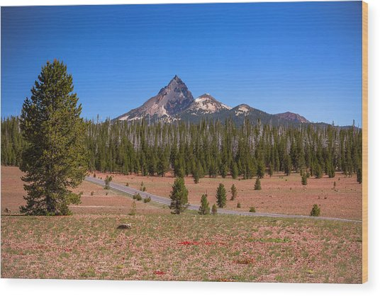 Crater Lake Np - Lightening Rod Of The Cascades Wood Print
