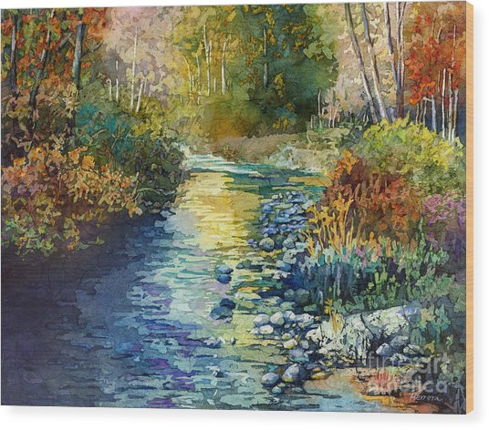 Creekside Tranquility Wood Print