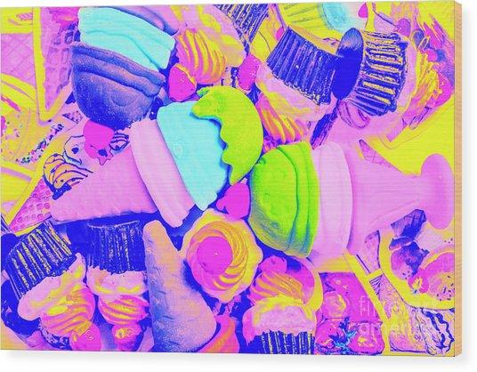 Creme De La Ice-cream Wood Print