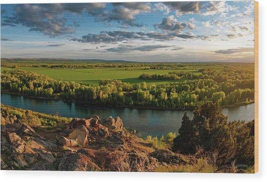 Cress Creek View Wood Print