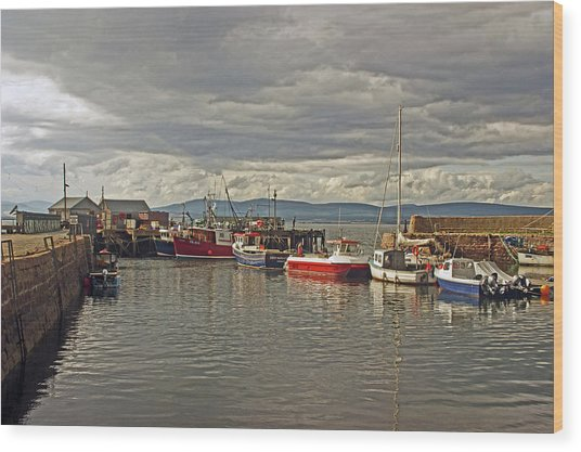 Cromarty. The Harbour. Wood Print