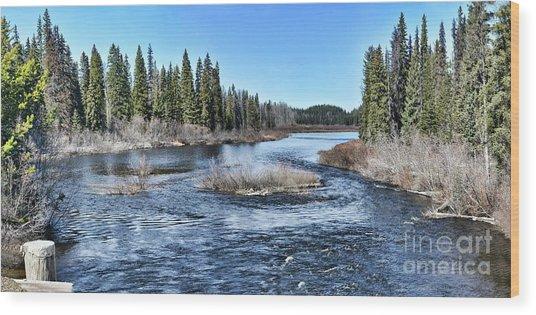 Crooked River Wood Print