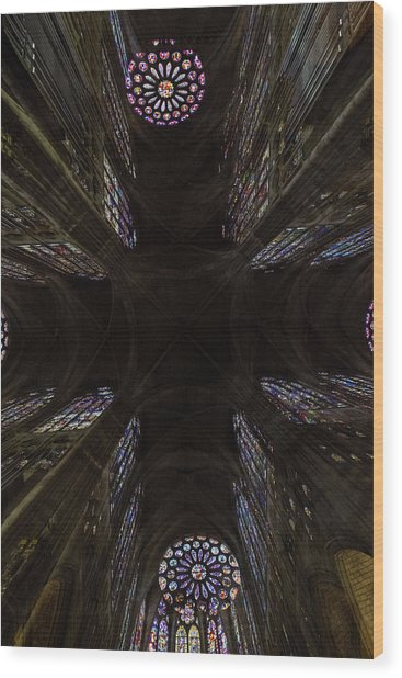 Wood Print featuring the photograph Cross by Alex Lapidus