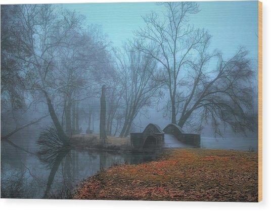 Crossing Into Winter Wood Print