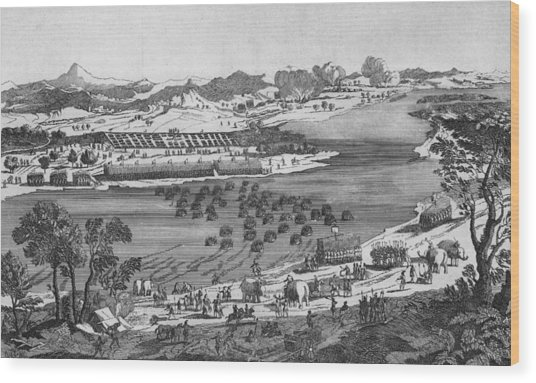 Crossing The Rhone Wood Print by Hulton Archive