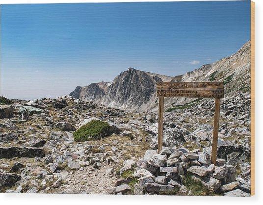 Crossroads At Medicine Bow Peak Wood Print