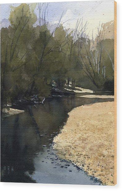 Crow Creek, Augusta, Missouri Wood Print