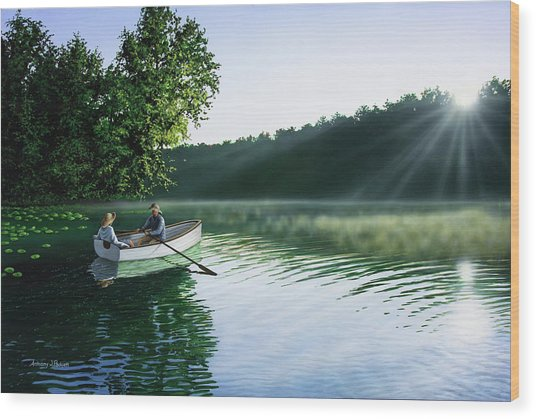 Cruise For Two Wood Print
