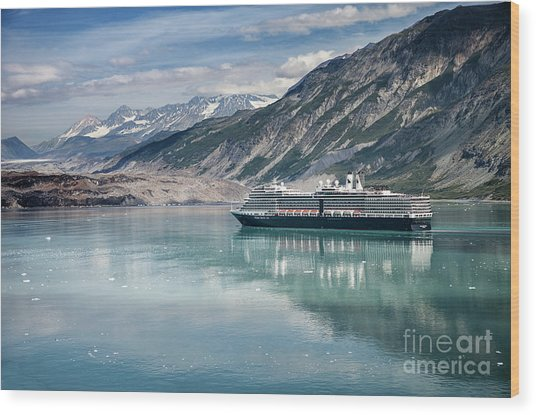 Cruise Ship Wood Print