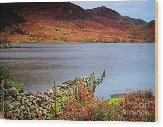 Crummock Water - English Lake District Wood Print