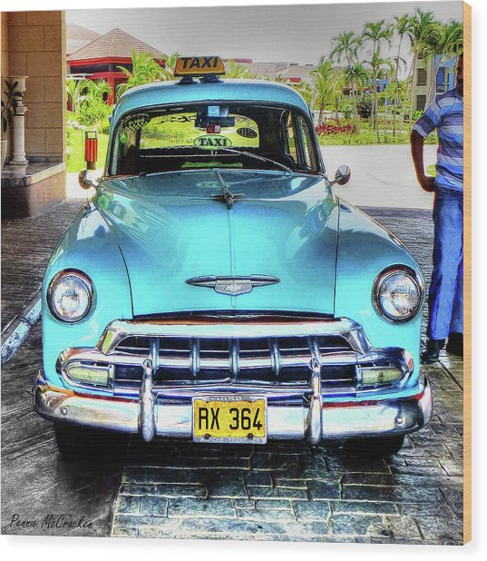 Cuban Taxi			 Wood Print