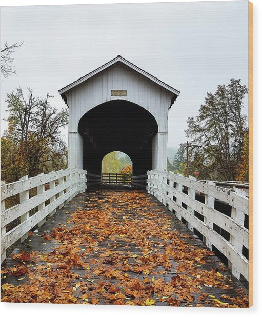 Curin Covered Bridge 1 Wood Print