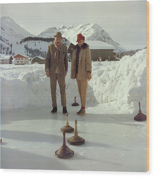 Curling Wood Print by Slim Aarons