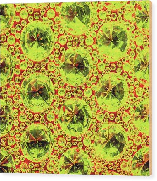 Cut Glass Beads 5 Wood Print