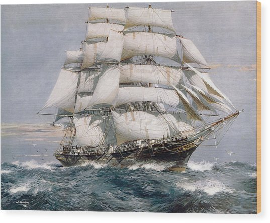 Cutty Sark Wood Print by Hulton Archive