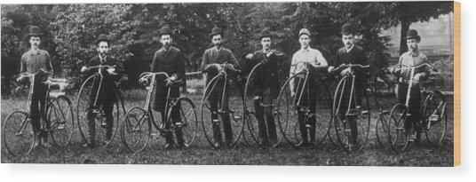 Cycle Club Wood Print by Hulton Archive