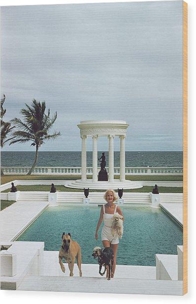 Czs Dogs Wood Print by Slim Aarons
