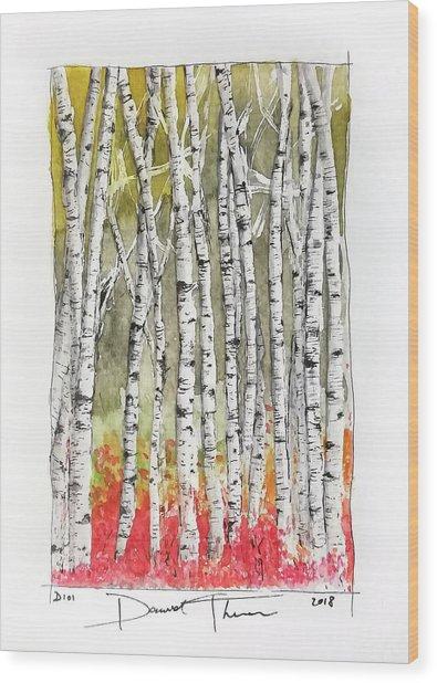 D101 Wood Print
