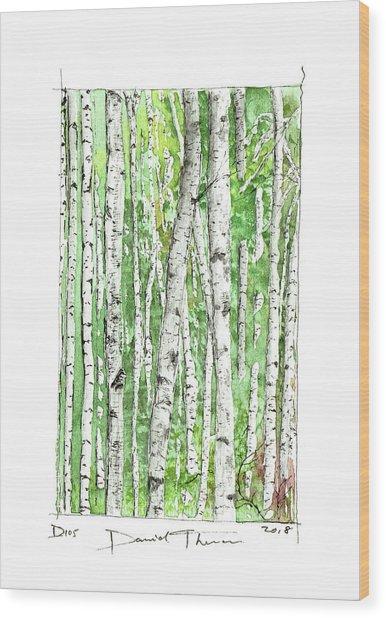 D105 Wood Print